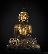 A large dry lacquer figure of Buddha Burma, Shan states, first half of 19th Century
