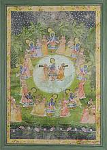 Pichhwai portraying Krishna and the gopis Northern India, 20th century