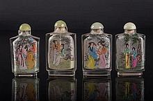 Four snuff bottles China, 20th Century