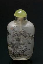 A painted glass snuff bottle China, Republic Period