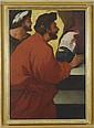 Luca Giordano [attribuito a]  (Napoli 1634 - Napoli 1705) Due figure