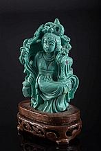 A turquoise intaglio China, 20th Century
