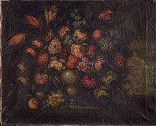Still Life with Flowers Italy, 19th Century