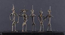 A group of small Indian bronze statues India, 19th Century