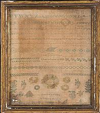 Sampler. Ashley Down (attr.) USA (?), 1868