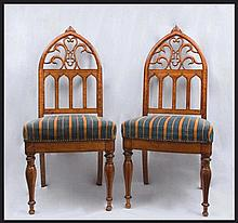 A pair of Charles X chairs France, first quarter of 19th Century