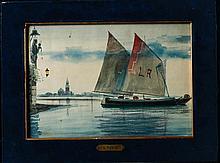"Luigi Rossi (attr.) ""Sea scene"" Italy, Veneto, 19th Century"