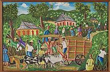 F.BienAimè, (attr.) Rural scene Haiti, 1972