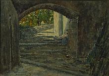 AdolfoTommasi(attr.) - Exterior Scene Italy, 19th Century