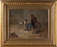 M.Cecconi- Hunter Italian, School, 19th Century