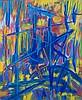 Antonio Corpora(Tunis 1909 - Rome 2004) La tenda di Orlando (Orlando's curtains),1987, acrylic on canvas