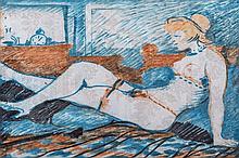 Salvatore Fiume(Comiso1925 -Canzo1997) Figura (Figure), 1969, mixed media on paper