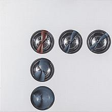 FrancoCostalonga(Venice 1933) Sfere (Spheres), 1975, mixed media on board