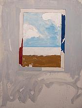 Mario Schifano(Homs 1934 - Rome 1998) Finestra con paesaggio(Window with landscape), 1972, oil on canvas