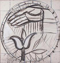 Bruno Saetti( Bologna 1902 - Bologna 1984 ) Studiperaffresco(Studies for a fresco), mixed technique on canvas-backed paper