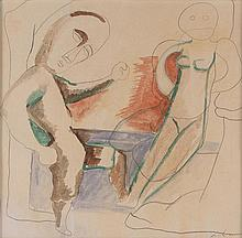 Sandro Chia (Florence 1946 ) Figure (Figures), 1989, mixed technique on paper