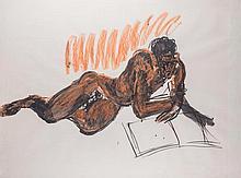 RainerFetting(Wilhelmshaven1949) Figura sdraiata (Lying figure),1983, mixed media on paper