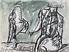 MarkusLupertz(Liberec1941) Senza titolo (Untitled), mixed media on paper