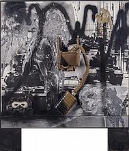 WolfVostell(Leverkusen1932 - Berlin 1998) La fine della guerra n.6 (The end of the war no. 6), 1990, mixed media on board
