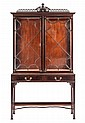 A Chippendale style mahogany cabinet England, early 20th century