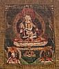 A Thangka depictingVajrasattva TIbet, 18th-19th Century