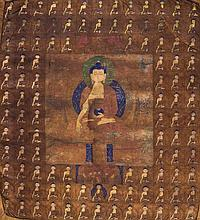 A Thangka depicting Buddha Tibet, 18th Century