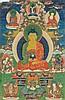 Thangka portraying Buddha Amitabha China/Tibet, 18th-19thCentury
