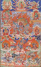 A Thangka depicting Hayagriva Mongolia, late 19th Century