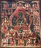 A Thangka depicting GreenTara Tibet, 17th -19th Century