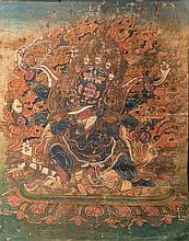 A Thangka depicting Mahākāla Tibet, 19th Century