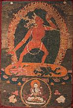 A Thangka depicting Vajrayogini Nepal, 18th century
