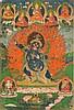 Thangka portraying Vajrapani Tibet, 19th Century