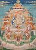 A Thangka depicitingAvalokitesvara Sino/Tibet, 18th Century