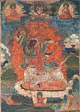 A Thangka depicting Dorje Drolo Tibet, 18th Century
