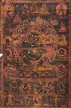 Thangka depicting Panjaranatha Mahakala Tibet, 16th Century
