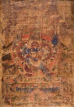 A Thangka depicting Eruka  Tibet, 17th Century