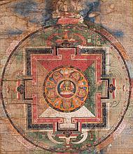 A MandalaofVajradhara(?) Tibet, 17th -18th Century