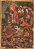 Thangka depicting twoArhatand twoLokapala China/Tibet, 18th Century