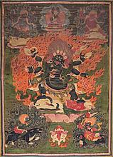 A Thangka depicting Mahakala Mongolia(?), late 19th Century