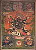 A Thangka depictingMahakala Mongolia(?), late 19th Century