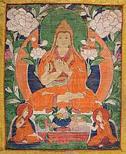 Thangka raffiguranteTson-kha-pa TIbet, 19th Century