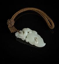 A fine Chinese jade pendant China, Qing Dynasty
