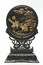 A zitan table screen China, Qing dynasty, 18th Century