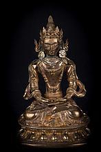 A statue ofAmitayus China, 18th Century, Qianlong period