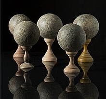 Five wooden balls Italy (?), 19th Century