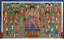 Buddha Tejaprabha enthroned Korea, Choson, 18th century or earlier