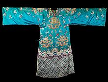 An embroidered dress China, Qing Dynasty, 20th Century