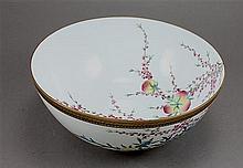 Asian China Bowl With Orange Birds