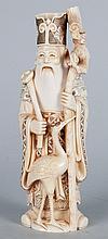 Japanese carved ivory deity