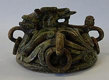 Chinese Hardstone Censer, Dragon Motif